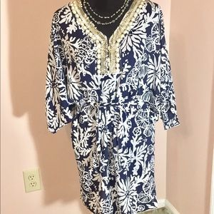 EUC Lilly Pulitzer Coverup Beaded